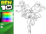 Ben 10: Coloring Ben, Gwen and Kevin